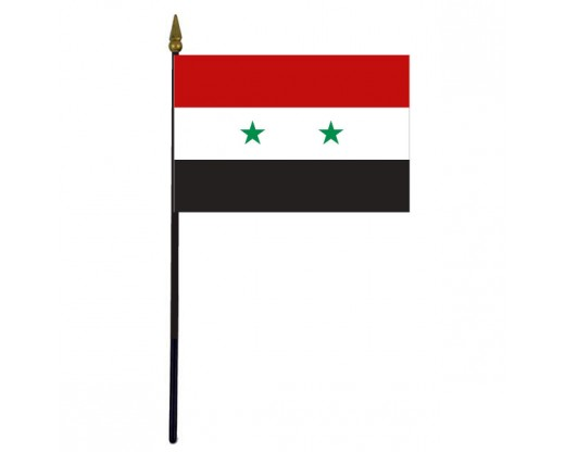 Syria Stick Flag - 4x6""