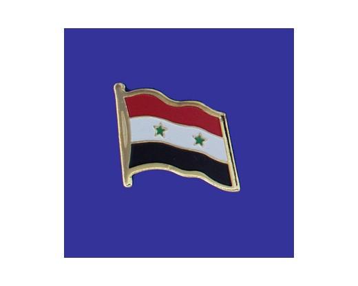 Syria Lapel Pin (Single Waving Flag)