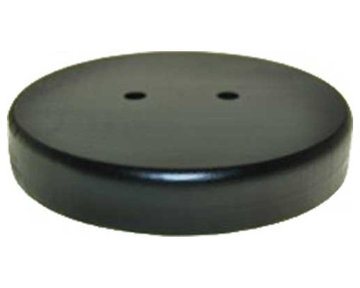 "Black wooden table base for 12x18"" stick flags, 2 hole"