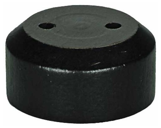 "Black wooden table base for 8x12"" stick flags, 2 hole"