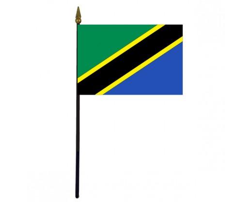 "Tanzania Stick Flag - 4x6"""
