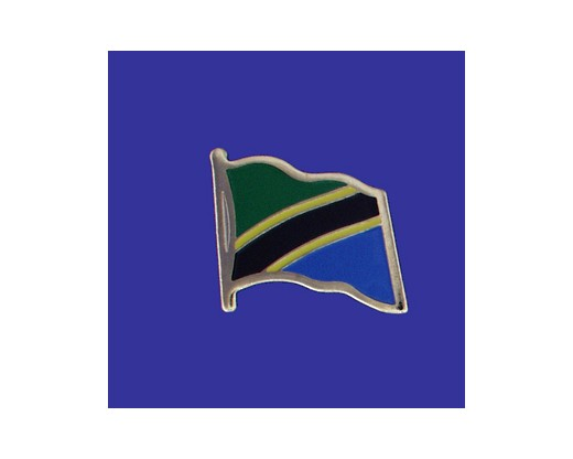 Tanzania Lapel Pin (Single Waving Flag)