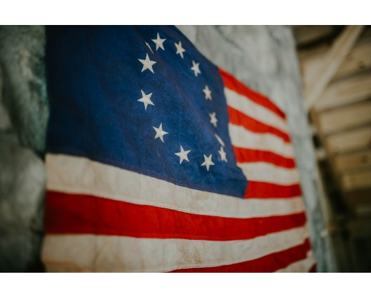 Close up of Betsy Ross Flag