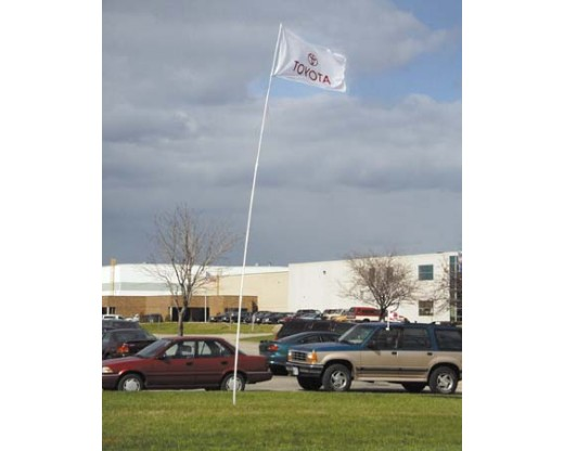 Flexible fiberglass flagpole