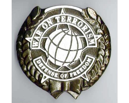War On Terrorism (Darker Design) Aluminum Grave Marker
