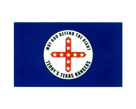 Terry's Texas Rangers Flag 1861 (May God Defend the right) - 3x5'