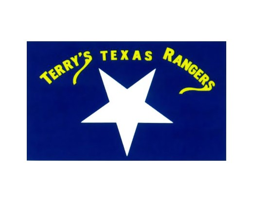 Terry's Texas Rangers Flag 1861 (Large White Star) - 3x5'