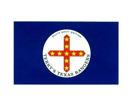 Terry's Texas Rangers Flag 1861-Yellow stars - 3x5'