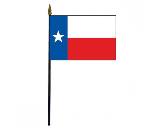 Texas State Stick Flag (Plastic) - 4x6""