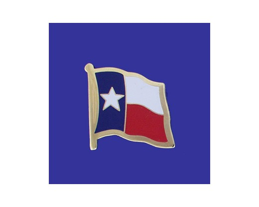 Texas State Flag Lapel Pin (Single Waving Flag) (Imported - Close Out)