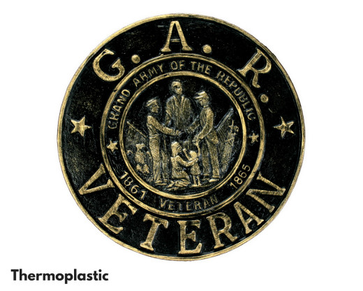 Thermoplastic GAR Civil War Grave Marker
