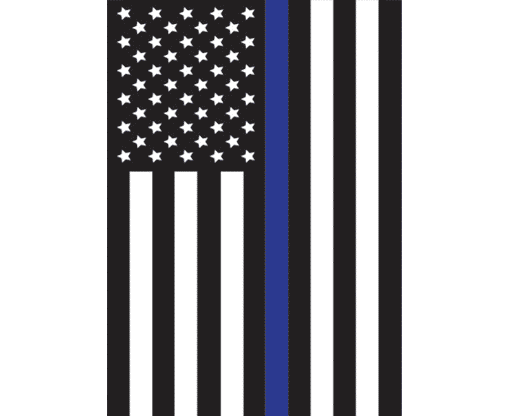 Thin Blue Line - USA Design Garden Flag