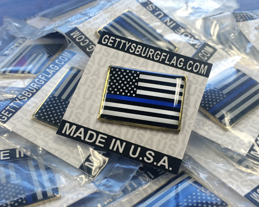 Thin Blue Line Lapel Pins
