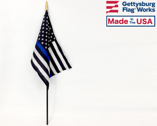 Thin Blue Line USA Stick Flag