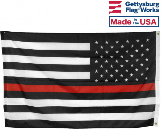 Back of Thin Red Line USA Flag