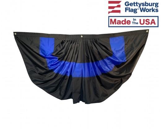 Thin blue line pleated fan
