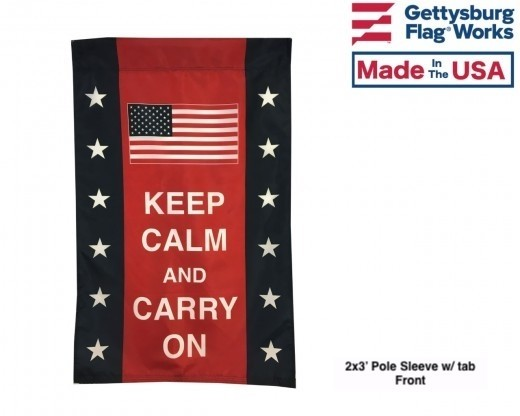 Keep Calm & Carry On Patriotic Flag & Banner