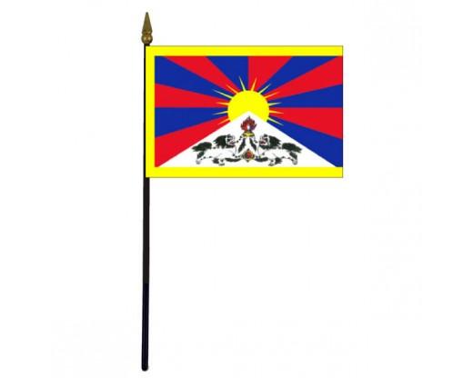 "Tibet Stick Flag - 4x6"""