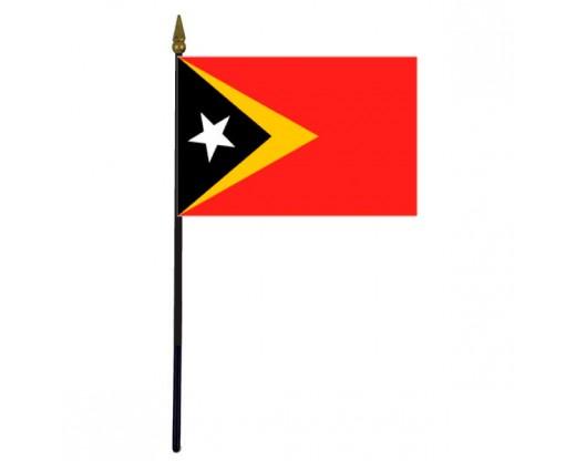 """Timor-Leste Stick Flag - 4x6"""""""