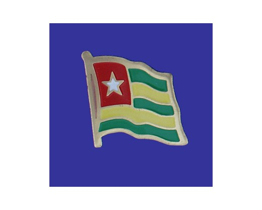 Togo Lapel Pin (Single Waving Flag)