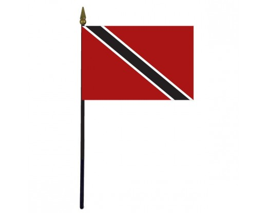 Trinidad & Tobago Stick Flag - 4x6""