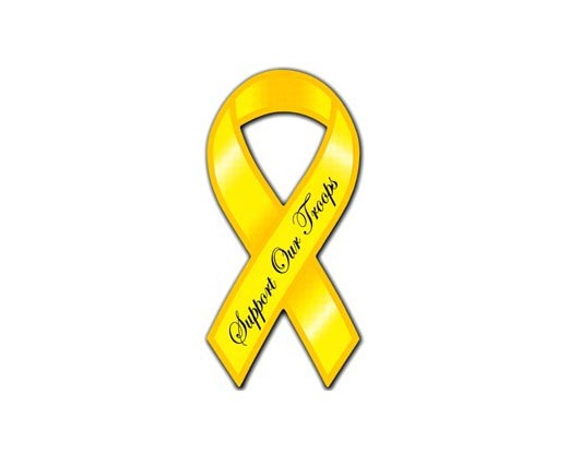 Support Troops Yellow Ribbon Magnet