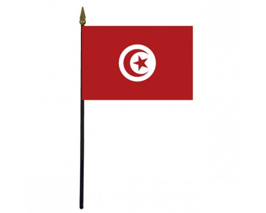 Tunisia Stick Flag - 4x6""