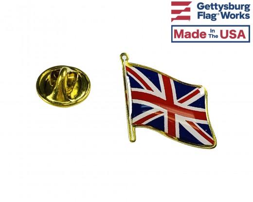United Kingdom Lapel Pin (Single Waving Flag)