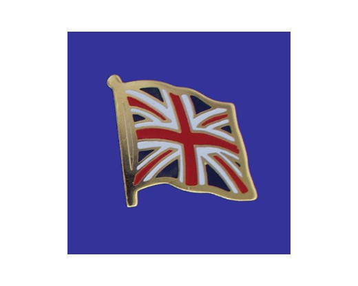 United Kingdom Lapel Pin (Single Waving Flag)