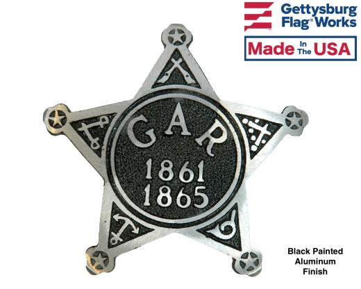 GAR Civil War Aluminum Grave Marker on rod