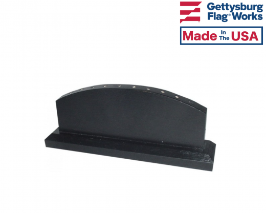 """Black wooden table base for 4x6"""" stick flags, 10 hole"""