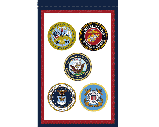 US Armed Forces Garden Flag