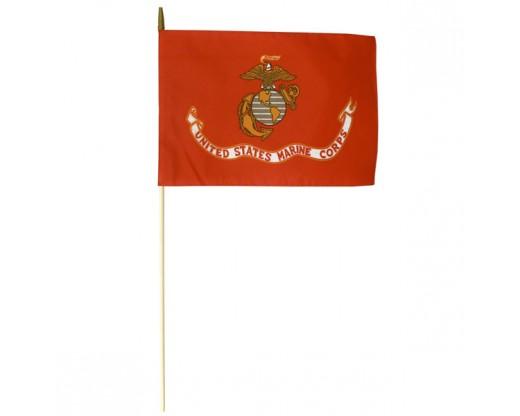 "Marine Corps Stick Flag - 12x18"""
