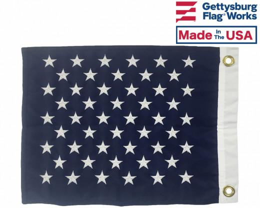 back of US Jack Flag