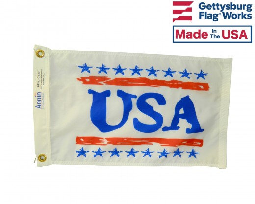 USA Boat Flag - 12x18""