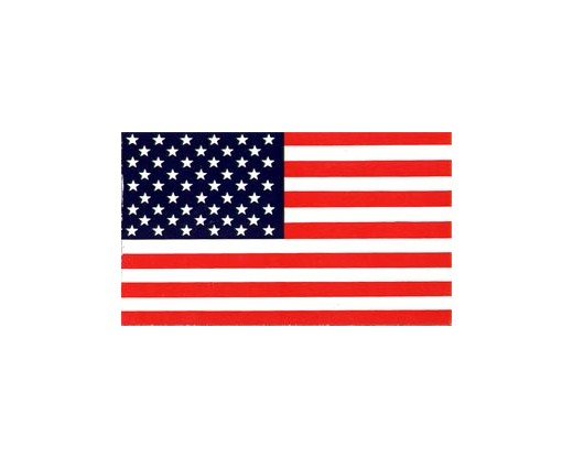 American Flag Window Sticker 2.3x4""