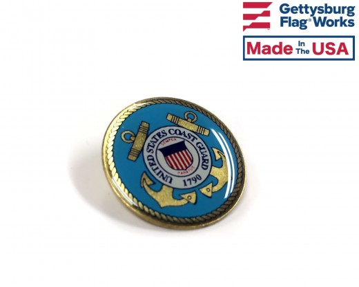 Coast Guard Seal Lapel Pin (Round Emblem Design)