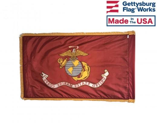 USMC Flag Back Fringe