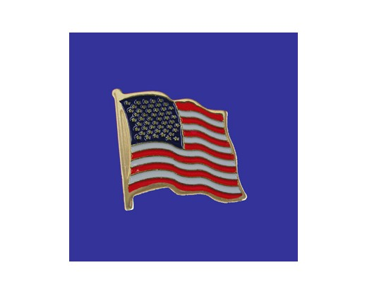 US Lapel Pin (Single Waving Flag) (Imported - Close Out)
