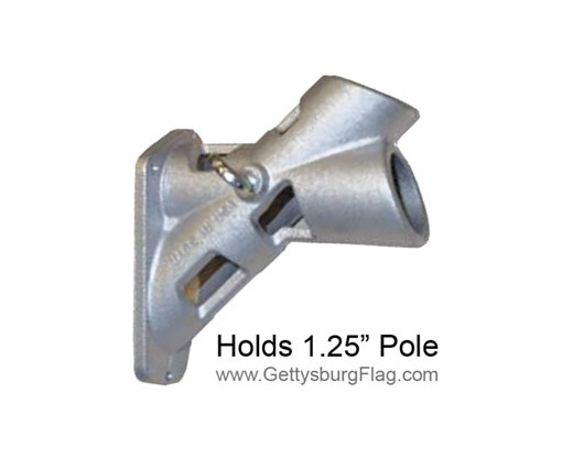 Bracket 2 Position Silver 1.25""