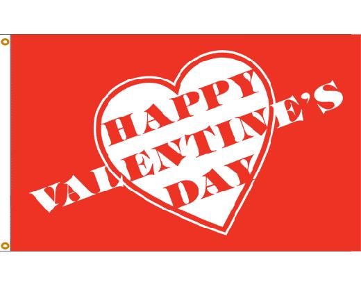 Valentine Hearts Flag - 3x5'