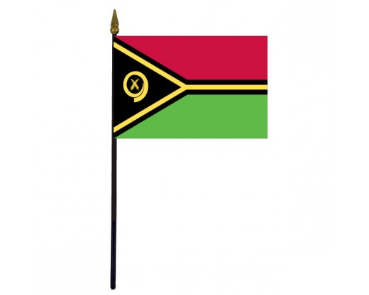 "Vanuatu Stick Flag - 4x6"""