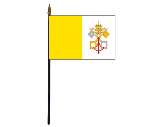 Vatican City Stick Flag (Papal)