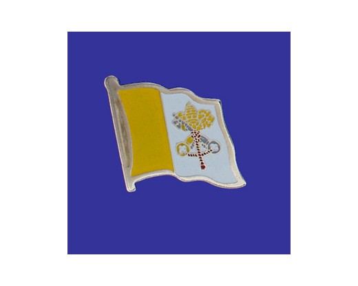 Vatican (Papal) Lapel Pin Waving Flag