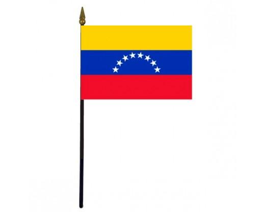 "Venezuela Stick Flag - 4x6"""