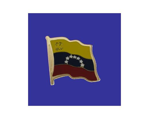 Venezuela (seal design) Lapel Pin (Single Waving Flag)
