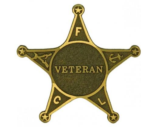 Veteran Bronze Grave Marker