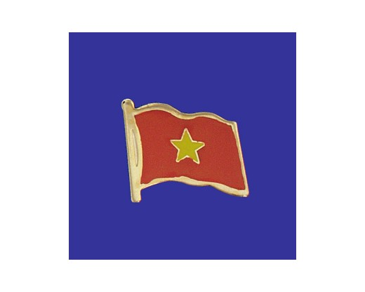 Vietnam Lapel Pin (Single Waving Flag)