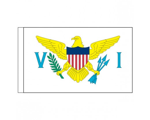 "US Virgin Islands Flag, Nylon, 3"" Pole Sleeve - 3x5'"