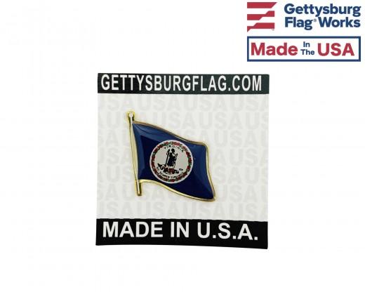 Virginia State Flag Lapel Pin (Single Waving Flag)